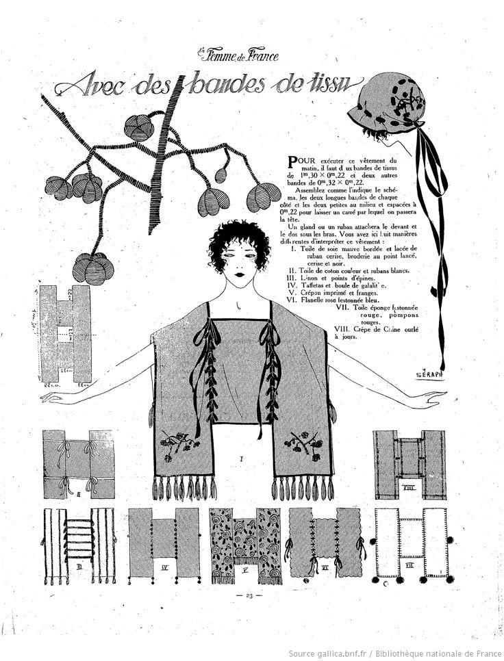 La Femme de France, patron de tunique années 30