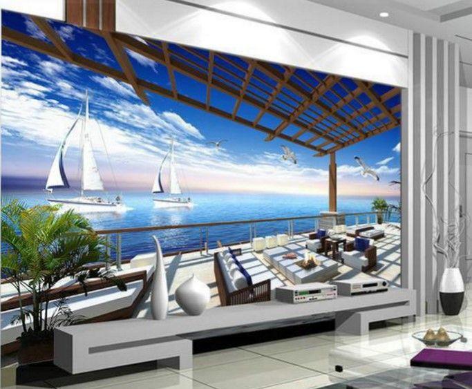 deniz manzaralı duvar kağıdı tasarımları 2016