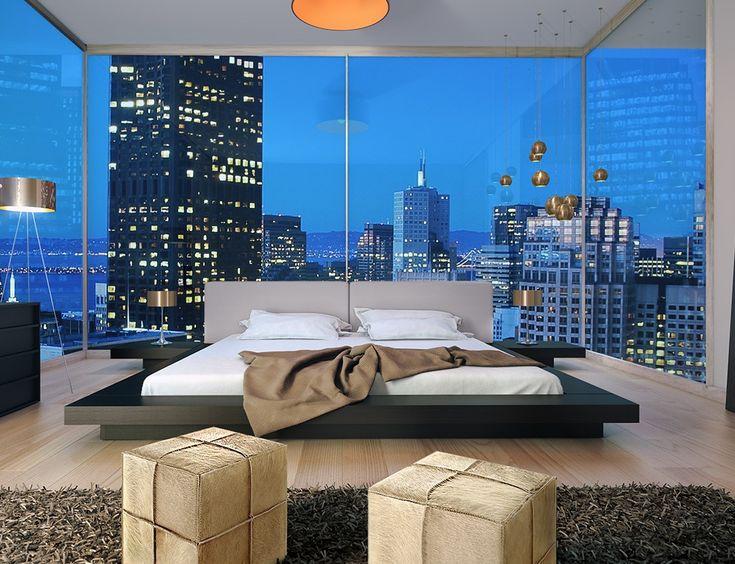 alaskan king size bed 9' x 9' | Luxury bedroom design ...