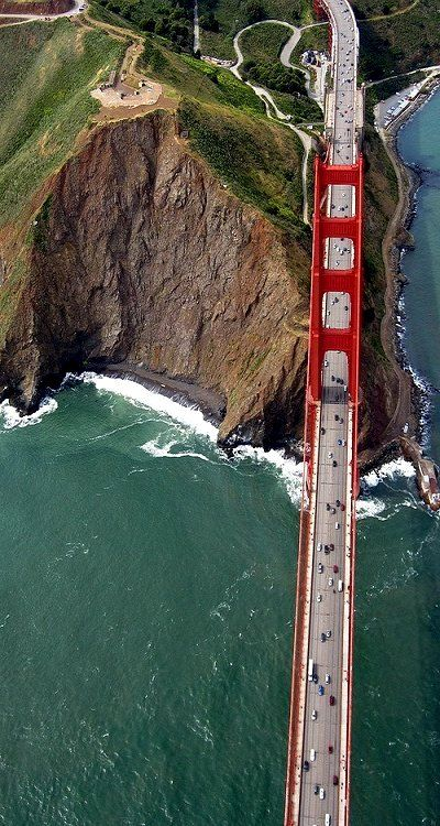 The Golden Gate, San Francisco -- this is the most awesome perspective of the Bridge I have ever seen.