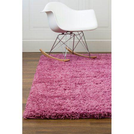 Super Area Rugs, Cozy Plush Solid Lilac Purple Shag Rug , 3' 3 inch x 5' 3 inch