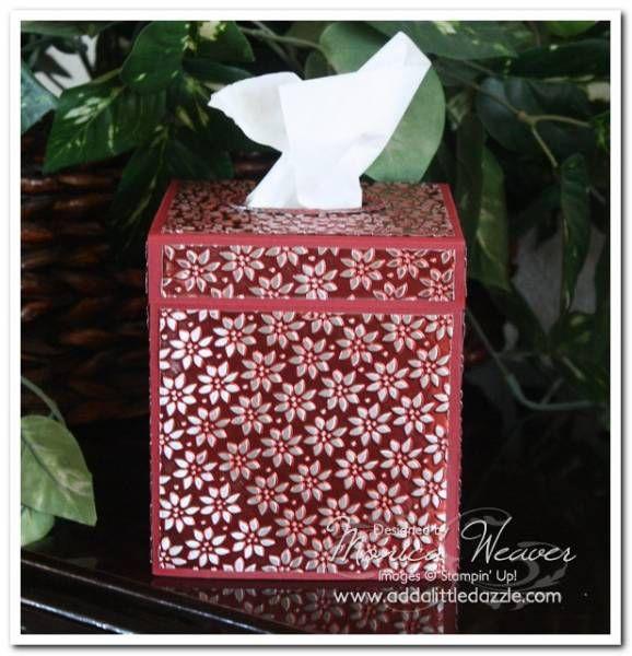 Petals a Plenty Metal Embossed Tissue Box Cover