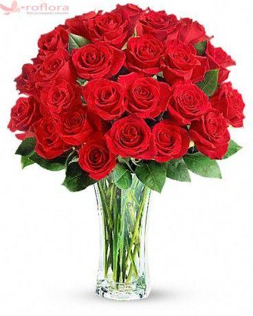 Luxuriant - Buchet din trandafiri rosii