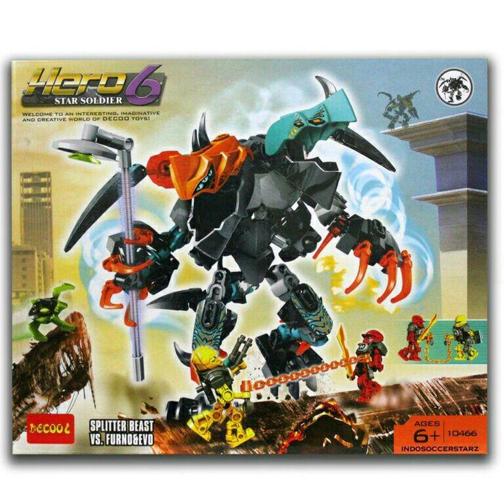 LEGO Decool 10466 Hero 6 Star Soldier - Splitter Beast vs Furno & Evo : www.tokopedia.com/indosoccerstarz - Termasuk 2 minifigure LEGO : Furno & Evo - Produk bisa dikombinasikan dengan Produk lainnya ( Seri 10402 & 10504 ) - Dimensi Produk : 29cm x 6cm x 24cm ( P x L x T )