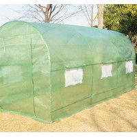 Features:  -Greenhouse.  -Made from 0.35 lb dark green gridding water-proof PE cloth.  -Easily construct a temporary large greenhouse in your own backyard deck patio or balcony.  -Side ventilated scre