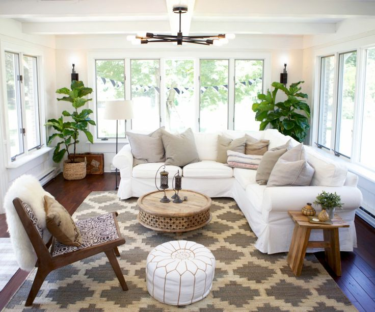 from design sponge reorient this and its basically what we want in the sunroom - Sunroom Decor
