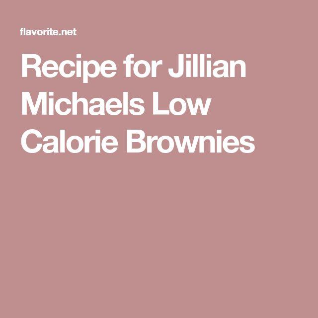 Recipe for Jillian Michaels Low Calorie Brownies