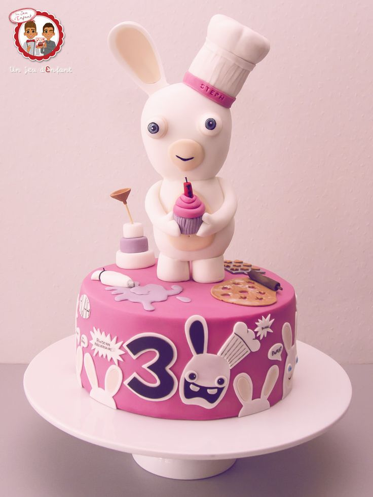 G teau lapins cr tins 30 ans raving rabbids our - Gateau lapin cretin ...