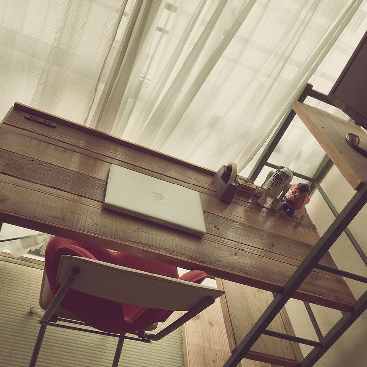 My Desk/DIY/リメイク/ニトリ/WOODPRO足場板のインテリア実例 - 2017-06-22 00:09:39