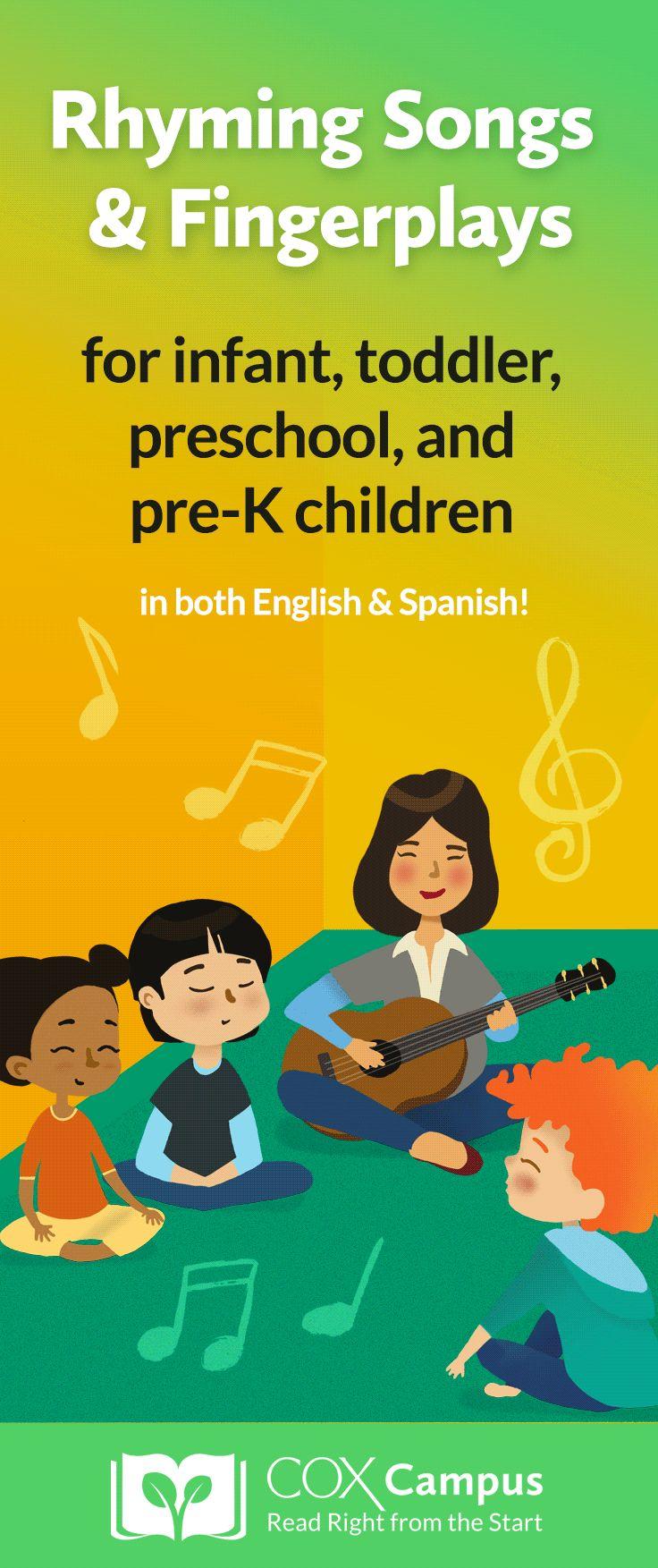 75+ Rhyming Songs & Fingerplays in English & Spanish