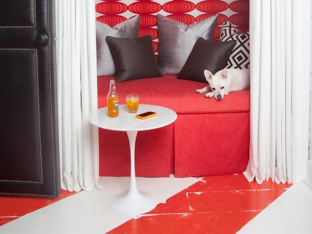 A concrete basement floor doesn't have to be boring. Get a fresh look with simple floor paint. >> http://www.hgtvremodels.com/interiors/basement-floor-paint-options/index.html?soc=pinterest#
