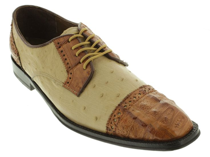 Fashion Crocodile Skin Genuine Leather Business Shoes Men