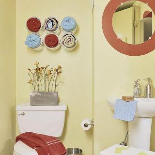 latas organização banheiro decoração