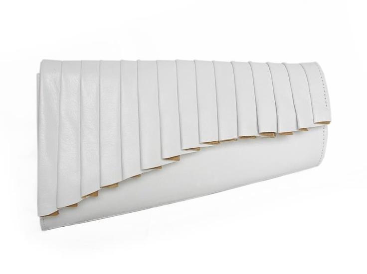 Centauri - white leather - Biskup Handbags