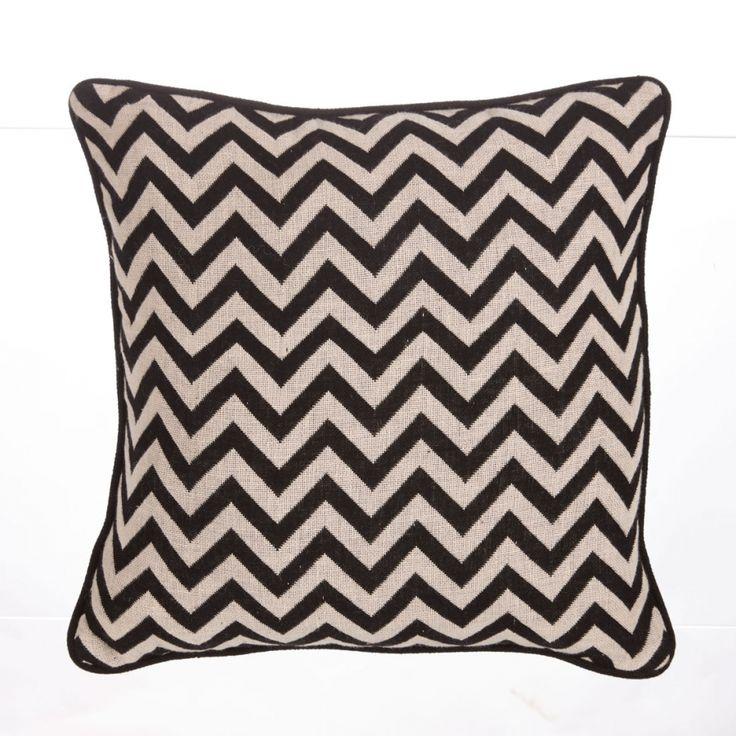 dekokissen making waves baumwolle schwarz 36x36. Black Bedroom Furniture Sets. Home Design Ideas