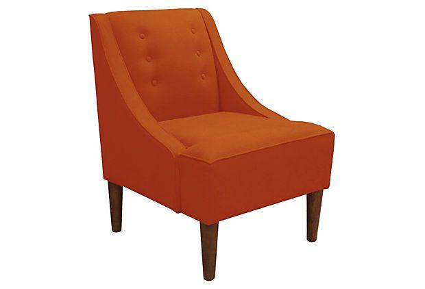 McCarthy Swoop Armchair, Orange: Swoop Armchairs, Orange, Mccarthy Swoop Arm, One King Lane, Swoop Arm Chairs, Onekingslane Com, Onekingslan Com 319, Furniture, Swooparm Chairs