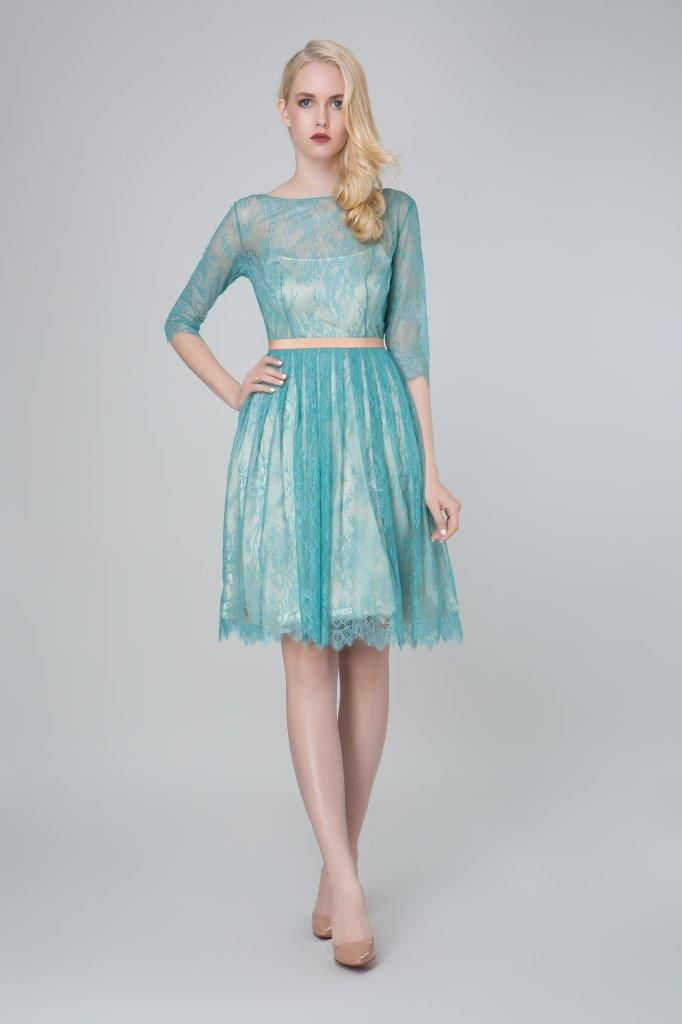 SADONI evening dress ZION in romantic French lace