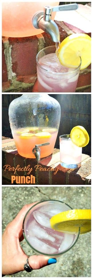 """""""Perfectly Peachy Punch,"""" the perfect spiked punch!"""
