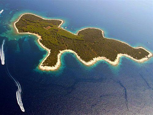 Kleine Insel Proizd in der Nähe von Vela Luka, Insel Korcula