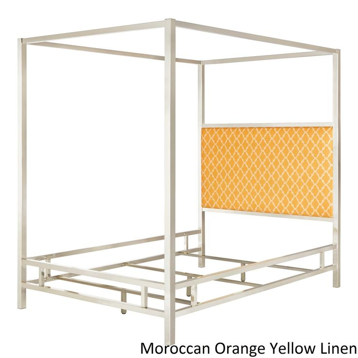 Solivita Queen-Size Canopy Metal Poster Bed by Inspire Q