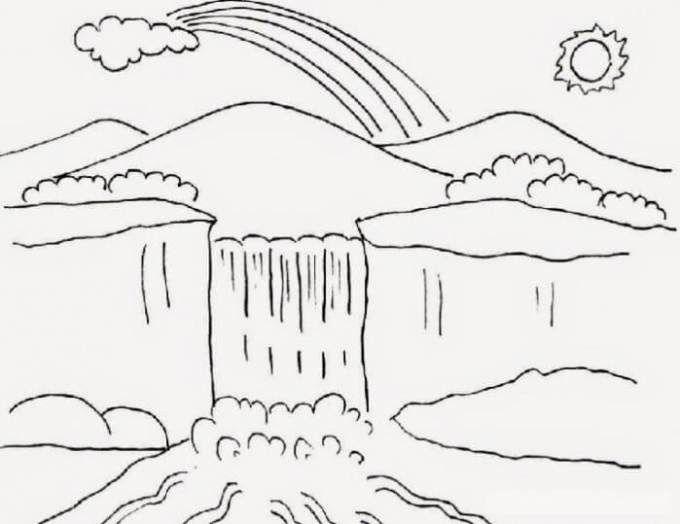 19 Contoh Gambar Pemandangan Yang Gampang Contoh Gambar Pemandangan Alam Yang Mudah Ditiru Lengkap Download Co Di 2020 Easy Drawing Tutorial Sketsa Buku Mewarnai