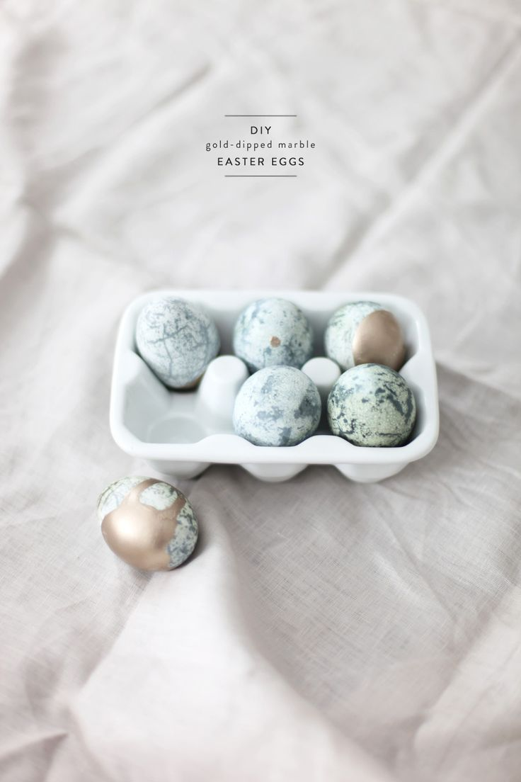 Maybe our favorite eggs to date: Marble Gold-Dipped Easter Eggs with a how-to right here: http://www.stylemepretty.com/living/2013/03/28/diy-gold-dipped-marble-eggs/ Photography and Styling by Style Me Pretty Living http://stylemepretty.com/living