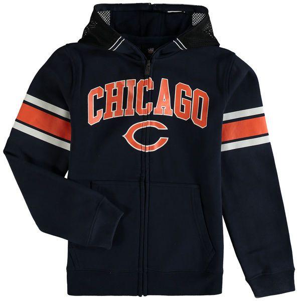 Chicago Bears Youth Fan Gear Helmet Full-Zip Hoodie - Navy - $54.99