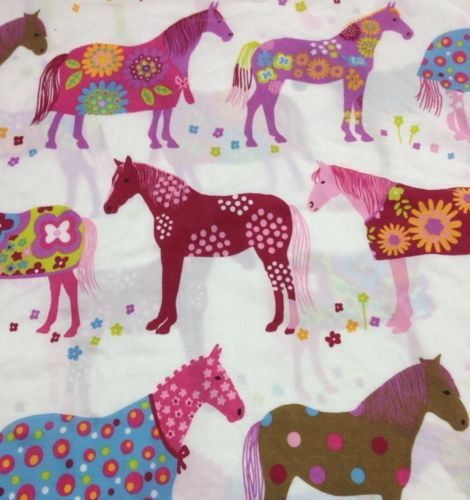 Garnet Hill Pony Up Horse Pink S Duvet Cover Double Queen Size