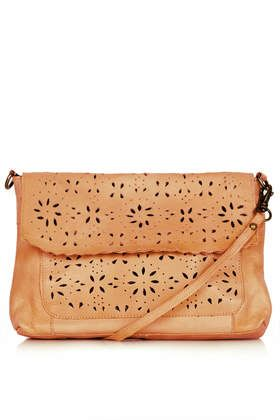 Leather Daisy Crossbody Bag