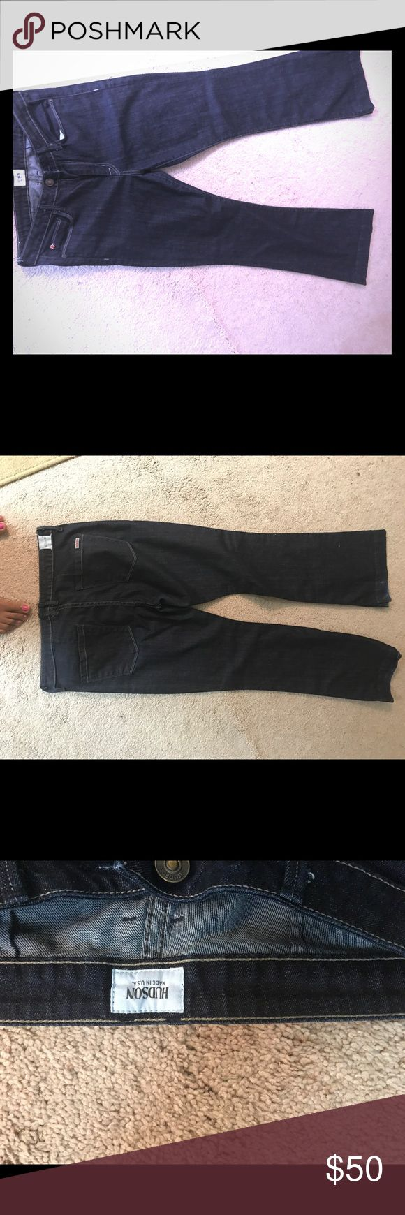 Hudson Jean trousers I've only worn these trousers twice, they fit wonderfully but are too short. In like new condition! Inseam is 33. Hudson Jeans Jeans Flare & Wide Leg