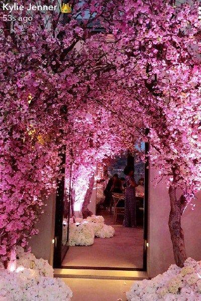 Kim Kardashian, Kanye West Threw Amazing Cherry Blossom Theme Baby Shower For Third Baby