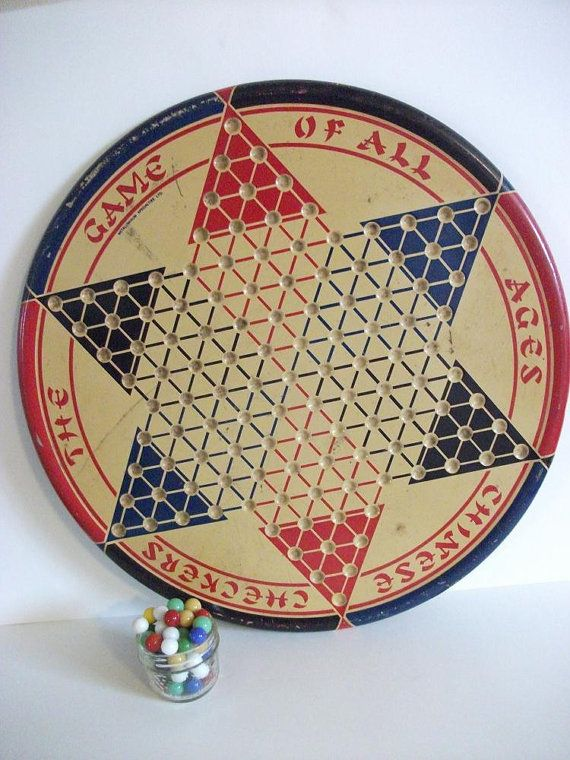 Vintage Chinese Checkers Board Game by RicsRelics on Etsy, $30.00