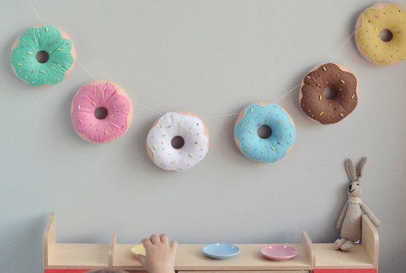 Sweet donut banner / handmade felt garland by SewManUniverseMaster