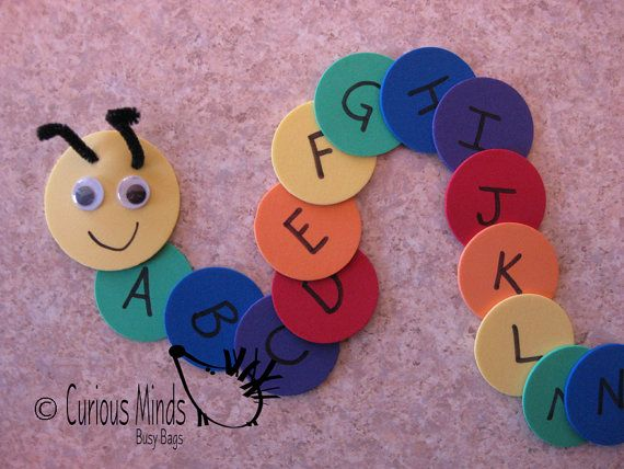 Alphabet Caterpillar Busy Bag learning by CuriousMindsBusyBags, $6.00