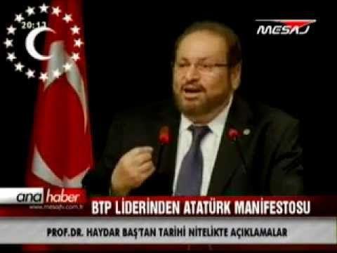 """Prof. Dr. Haydar Baş : """"Atatürk'ü yanlış tanıttılar"""" - YouTube"""