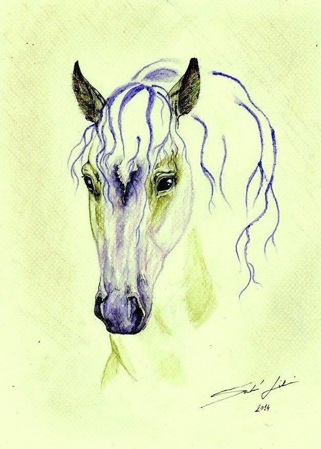 Purple-Green horse
