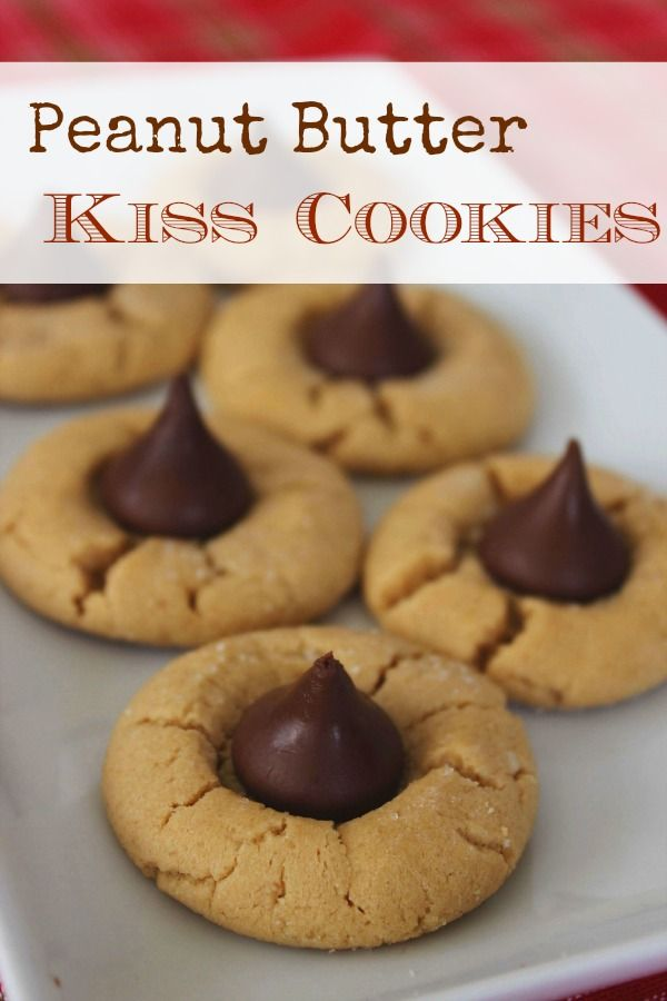 Peanut Butter Kiss Cookies - great Christmas Cookie - otherwise known as Peanut Butter Blossoms. These cookies are freezer friendly so make up a large batch for your freezer.
