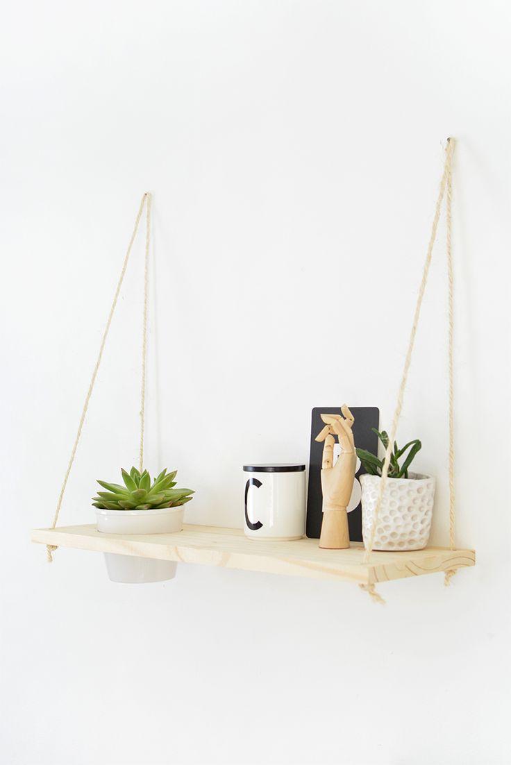 DIY | hanging shelf @burkatron