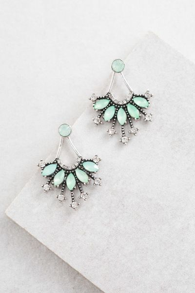 Polmera Ear Jacket Earrings | Jade $15