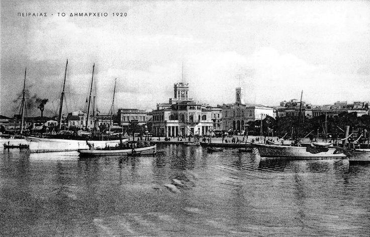 Πειραιάς, το Δημαρχείο, 1920