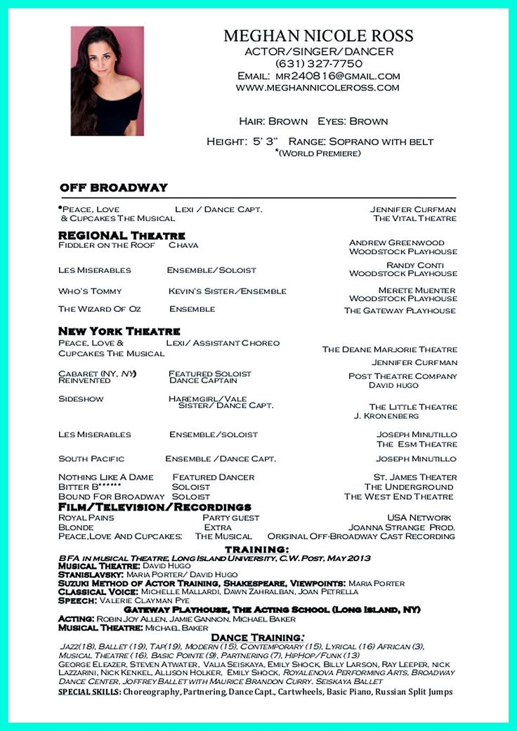 Dance resume can be used for both novice and professional dancer. Most job of dancer has minimum requirements that not all of dancers can meet. Howeve... dance teacher resume sample Check more at http://www.resume88.com/best-impressive-dance-resume-examples-collections/