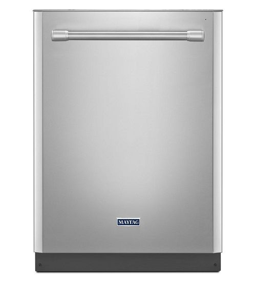 Designed in the form of fully integrated, then the dishwasher is likely to be more secure and not easily accessible to your child while playing around the kitchen cabinets. Maytag MDB8969SDM fully integrated with the kitchen cabinets and the control buttons are on the top on the inside so it is difficult to reach by children. So you may not need a child lock feature.