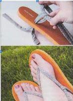 вьетнамки, делаем сами, как сделать, ремонтируем обувь сами, ремонтируем сами, сделаем сами, сланцы, что можно сделать, я ремонтирую сам