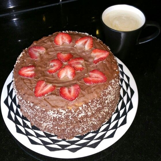 Chocolate cake with Strawberry heart filling