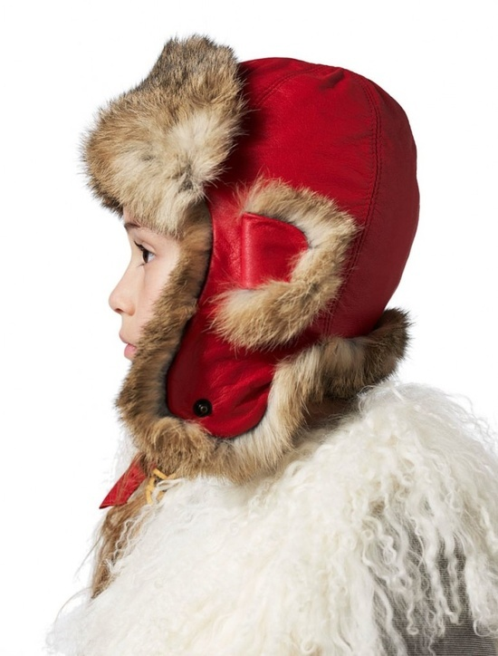 Petit Nord by Anders Hald one of the specialist cold weather trapper hats the company produces in all varieties of skin finishes and colours.