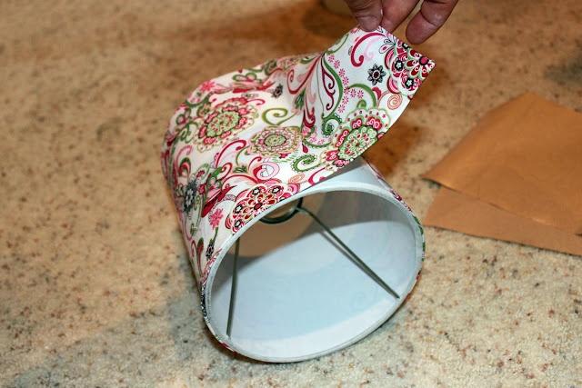 DIY: Easy Way To Cover Lamp Shades   Between 3 SistersBetween 3 Sisters