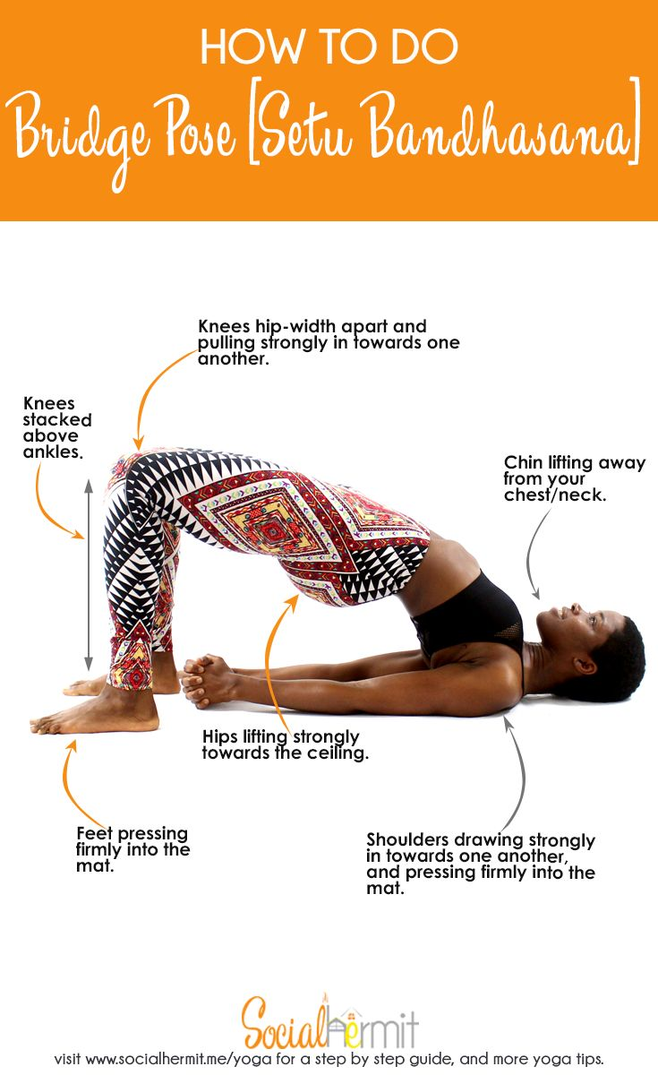 Bridge pose is a good gateway pose to backbends, great counter stretch for core work and a good warm up pose for backbends in yoga. Click through to read more on how to do bridge pose and ways to make the pose more accessible.