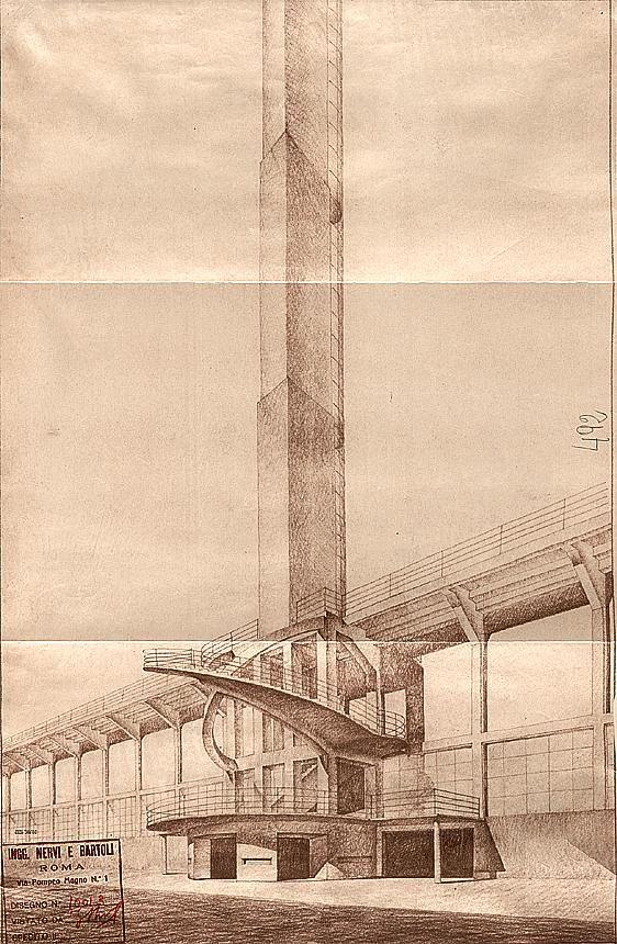 Pier Luigi #Nervi - Stadio comunale G.Berta, Firenze, 1930-1933