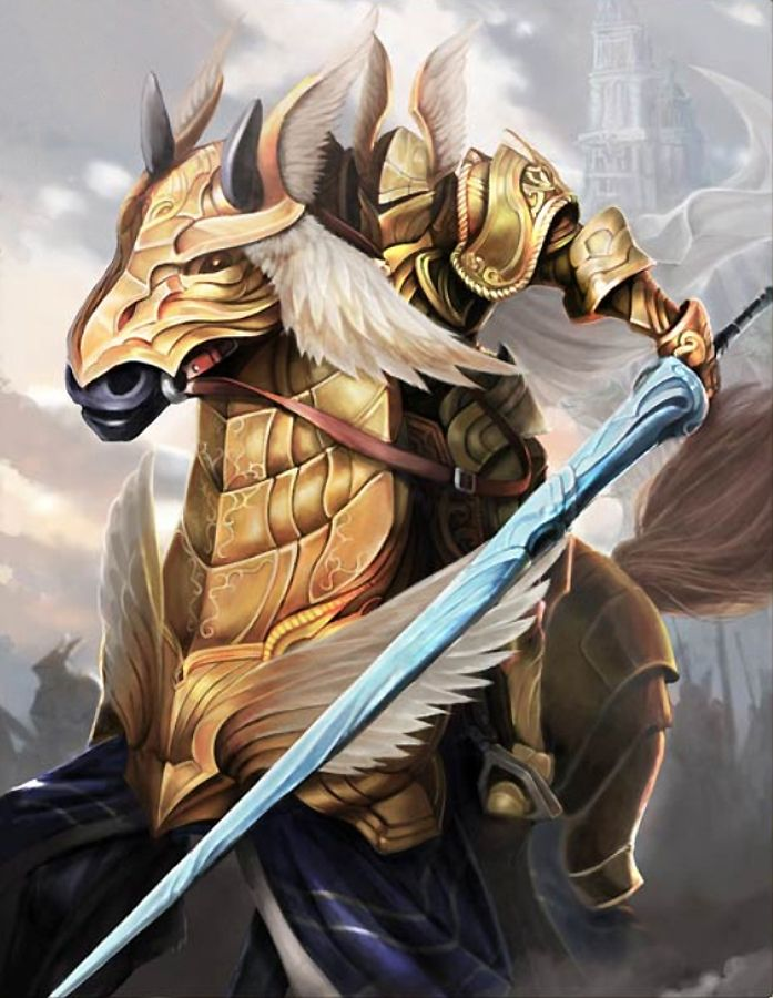 Artist: Unknown - Title: Unknown - Card: Relentless Plated Cavalry (Enforce)