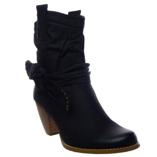 In Offerta! #Offerte Abbigliamento#Buoni Regalo   #Outlet Kickly – Scarpe da Moda Stivaletti – Stivali Scarponi al polpaccio donna Tacco a blocco 7.5 CM – Nero disponibile su Kellie Shop. Scarpe, borse, accessori, intimo, gioielli e molto altro.. scopri migliaia di articoli firmati con prezzi da 15,00 a 299,00 euro! #kellieshop #borse #scarpe #saldi #abbigliamento #donna #regali